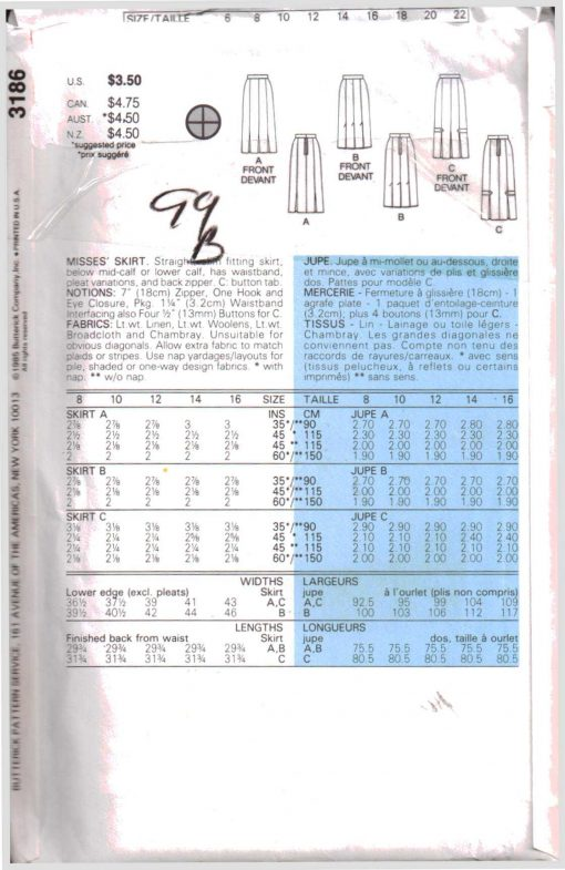 Butterick 3186 Y 1