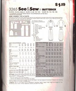 Butterick 3265 Y 1