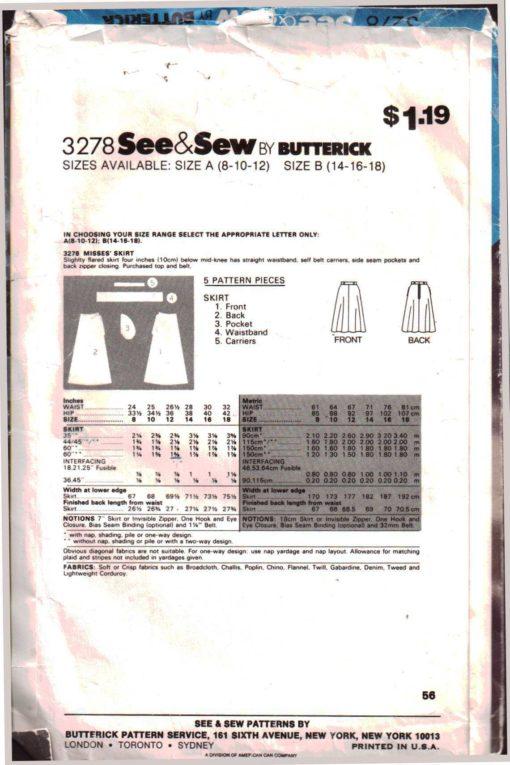 Butterick 3278 Z 1