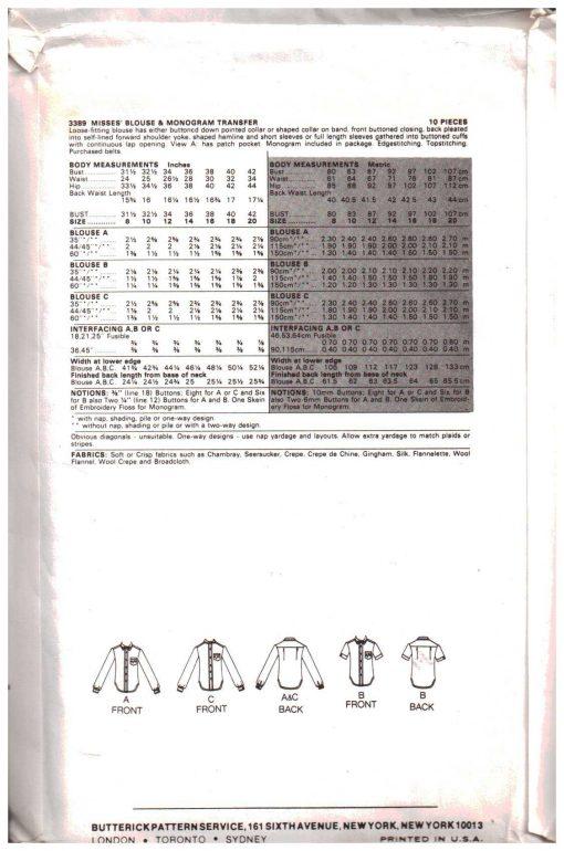 Butterick 3389 Y 1