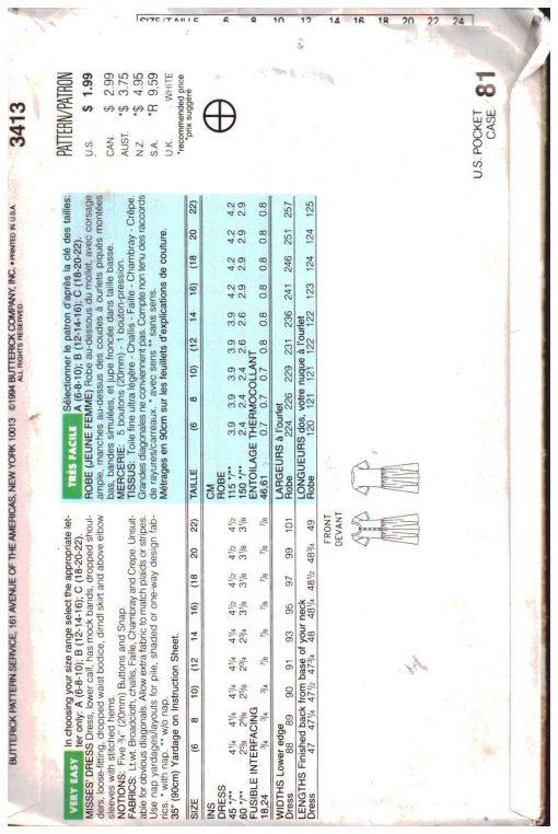 Butterick 3413 A 1