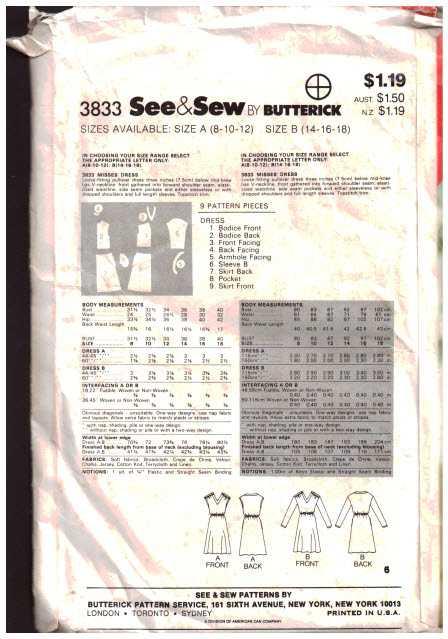 Butterick 3833 1