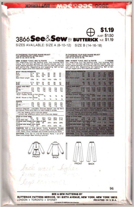 Butterick 3866 Z 1