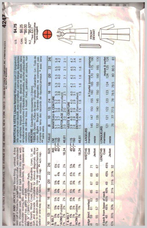 Butterick 4247 Y 1