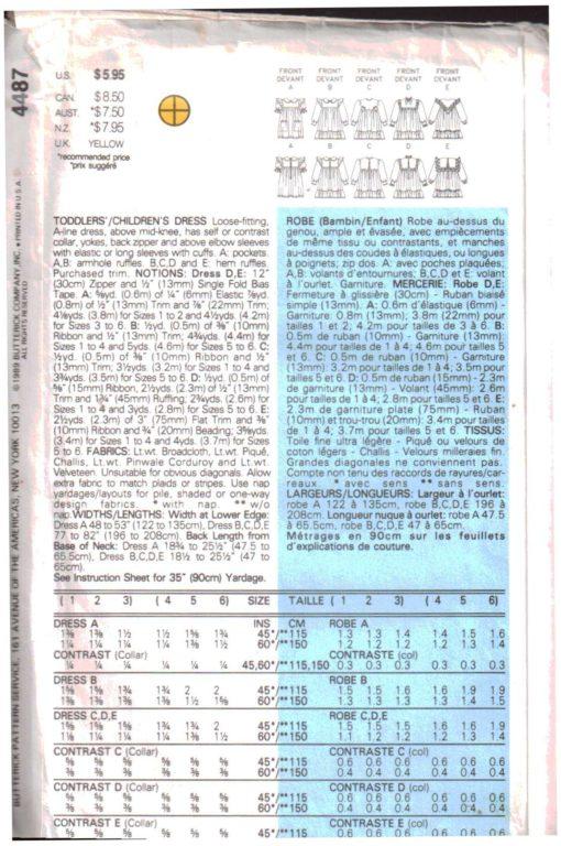 Butterick 4487 Y 1