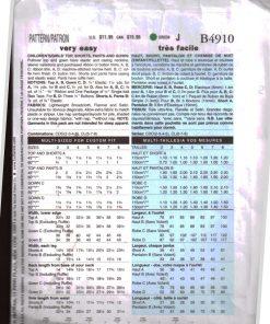 Butterick B4910 Y 1
