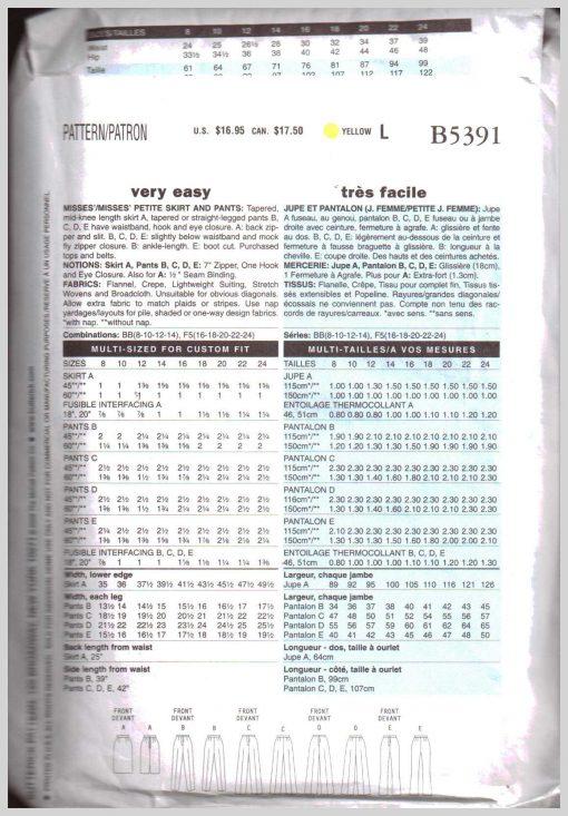 Butterick B5391 Y 1