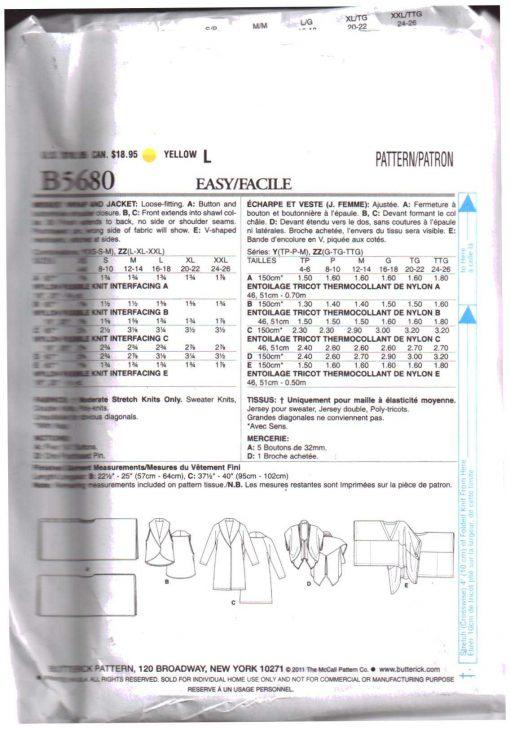 Butterick B5680 Y 1