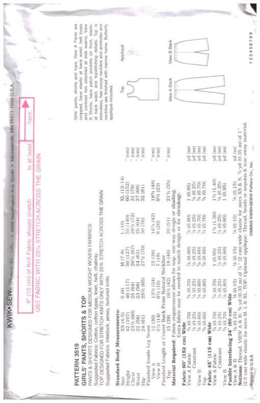 Kwik Sew 3519