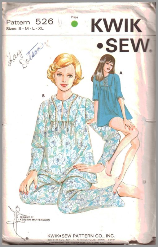 Kwik Sew 526 Y