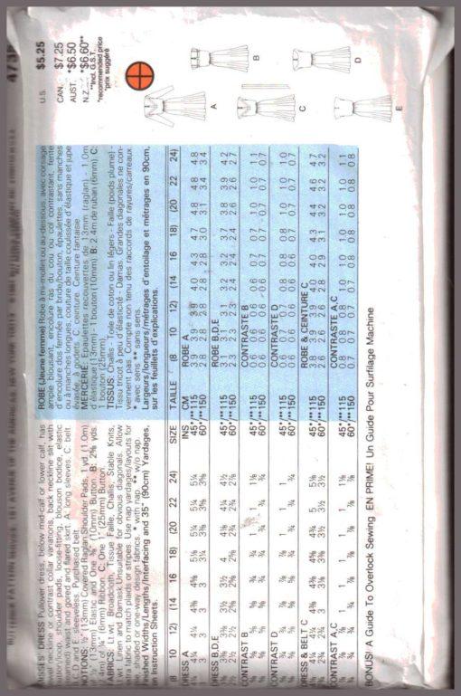 Butterick 4735 Z 1
