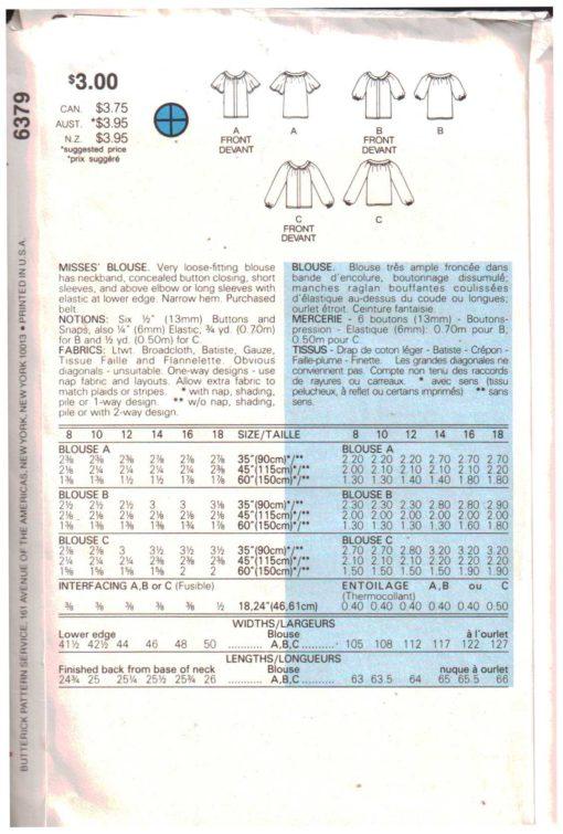 Butterick 6379 Z 1