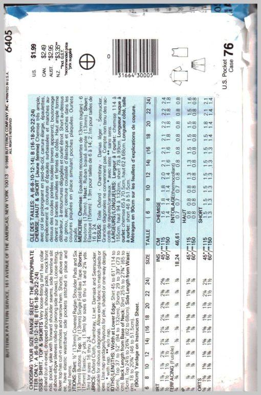 Butterick 6405 Z A 1
