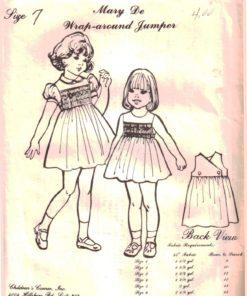 The Childrens Corner Pattern 67 Mary De Wrap around Jumper