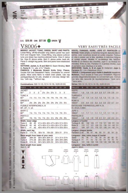 Vogue V8006 1