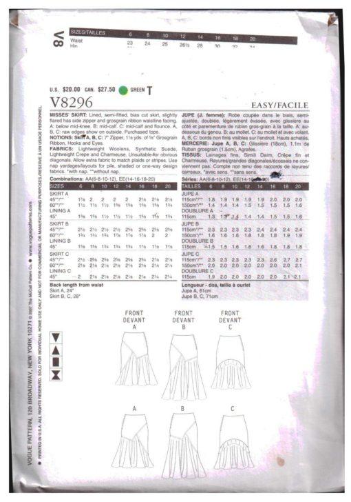 Vogue V8296 M 1