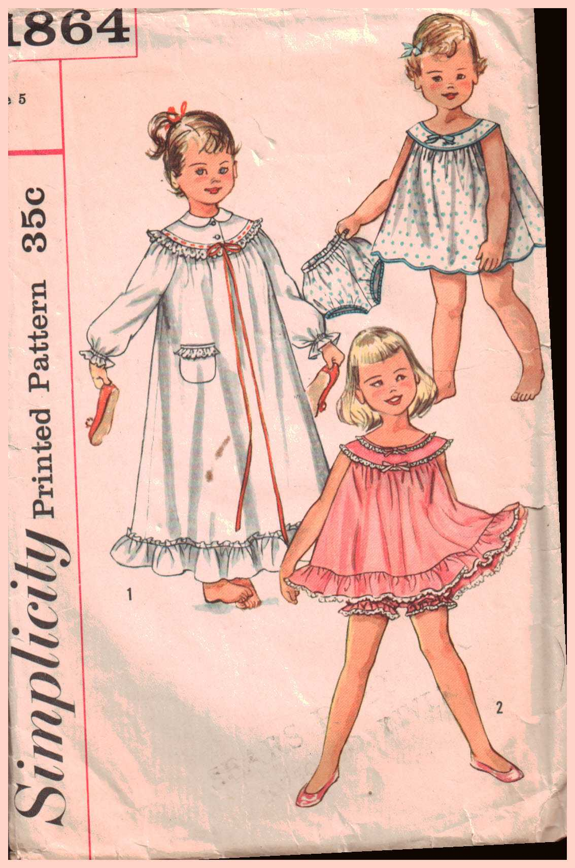 de12a78cb58 Simplicity 1864 Girl s Nightgown in two lengths