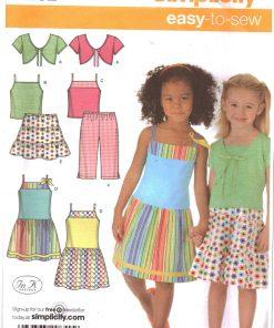 Vintage Girls Bolero Dress Knitting Pattern Sizes 3 /& 4