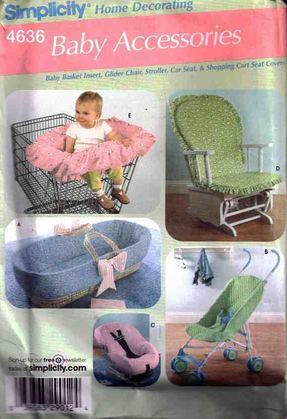 Simplicity 4636 Baby Accessories - Basket Insert, Umbrella Stroller ...