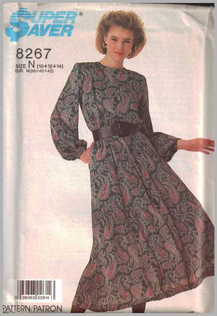 bbfb8ebaa5 Simplicity 8267 Dress Size  N 10-12-14 Uncut Sewing Pattern