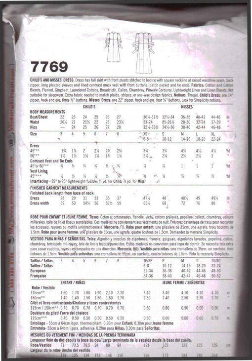 Simplicity 7769 A1