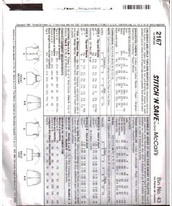 McCalls 2167 Z 1