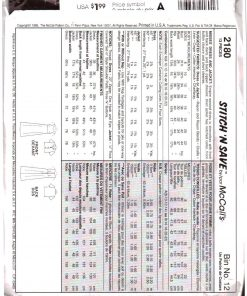 McCalls 2180 M 1
