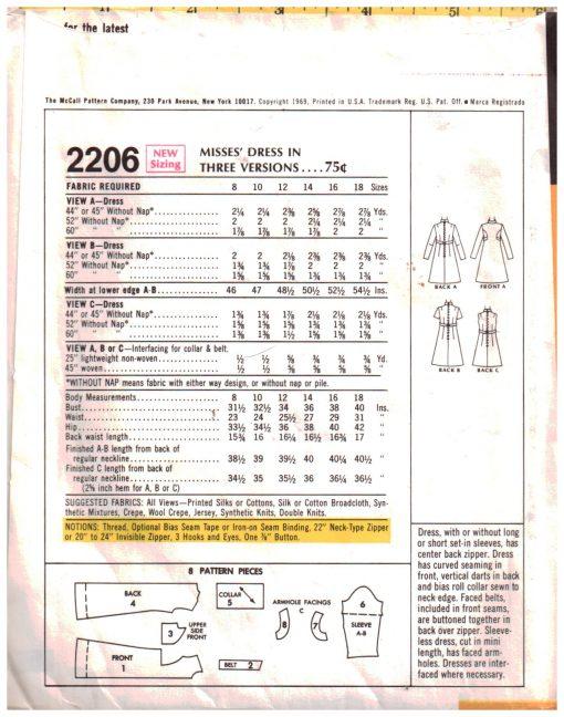 McCalls 2206 Z 1