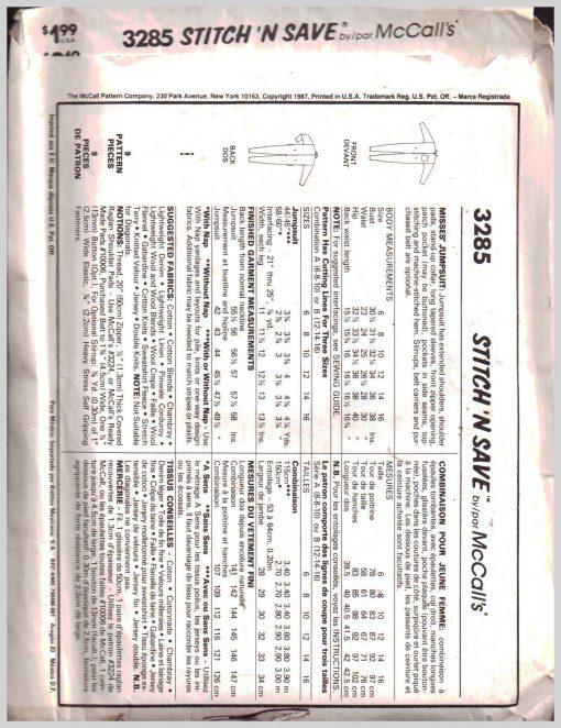 McCalls 3285 M 1