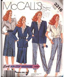 McCalls 3316 M