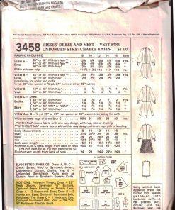 McCalls 3458 M 1