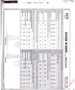 McCalls 3479 M 1