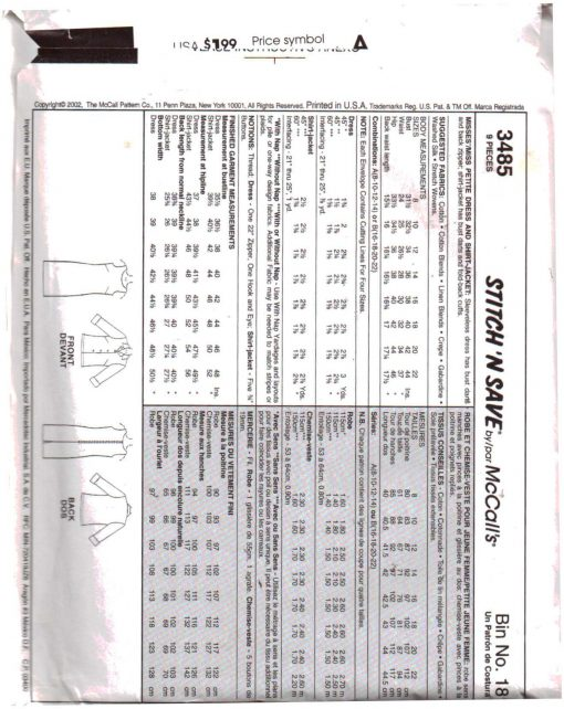 McCalls 3485 MN 1