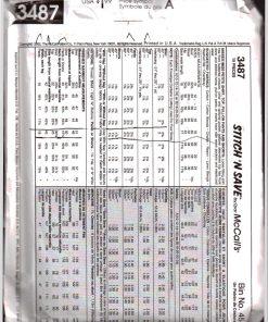 McCalls 3487 M 1