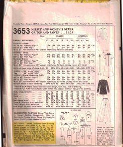 McCalls 3653 M 1