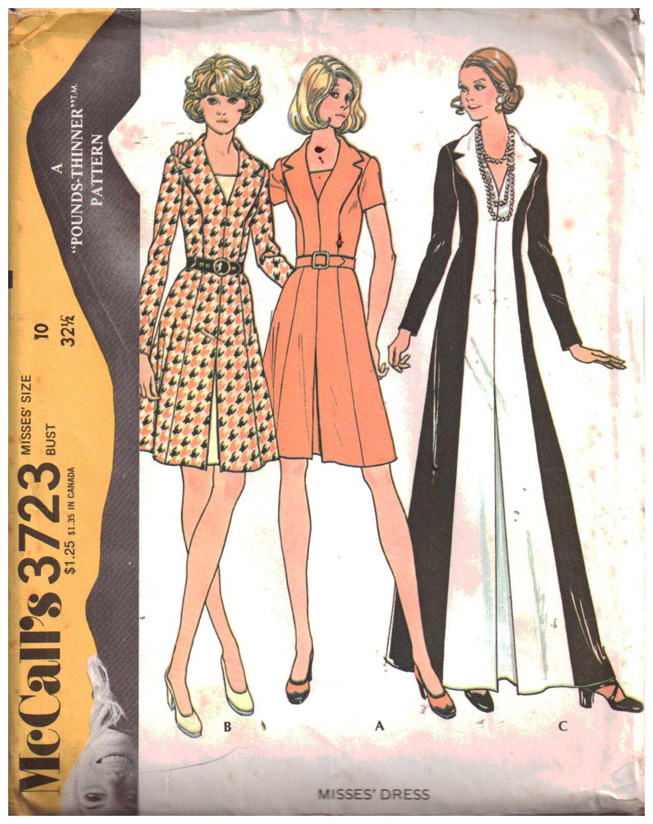 6d6b87bb46 McCall s 3723 Dress Size  10 Bust 32.5 Uncut Sewing Pattern