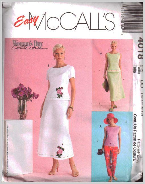 McCalls 4018 M