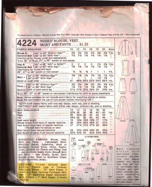McCalls 4224 M 1