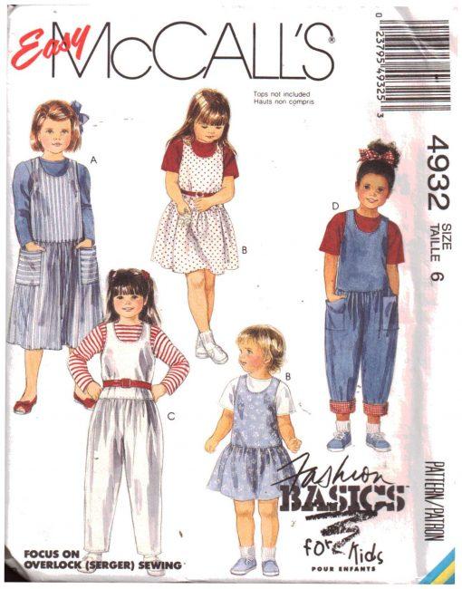 McCalls 4932 M