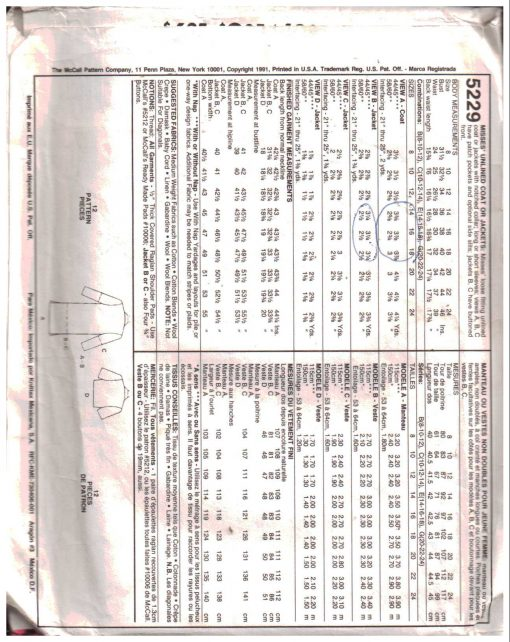 McCalls 5229 M 1