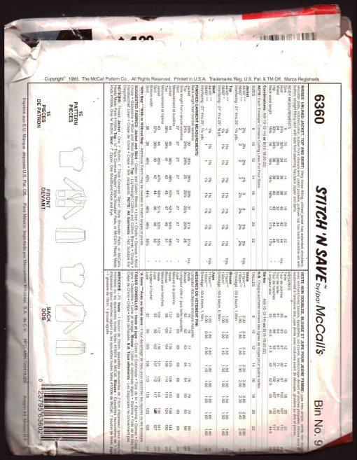 McCalls 6360 M 1