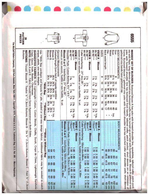 McCalls 6555 M 1