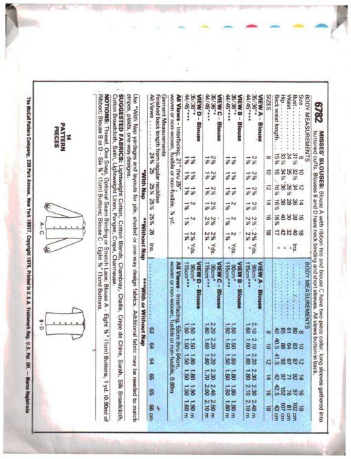 McCalls 6782 M 1