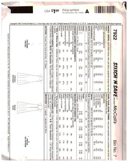 McCalls 7922 M 1