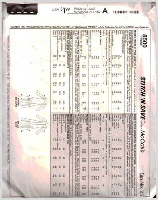 McCalls 8500 1