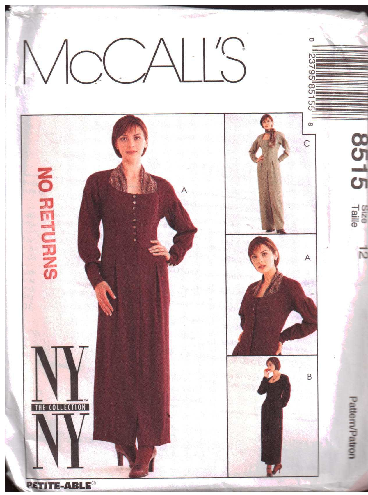 McCalls 8515 M