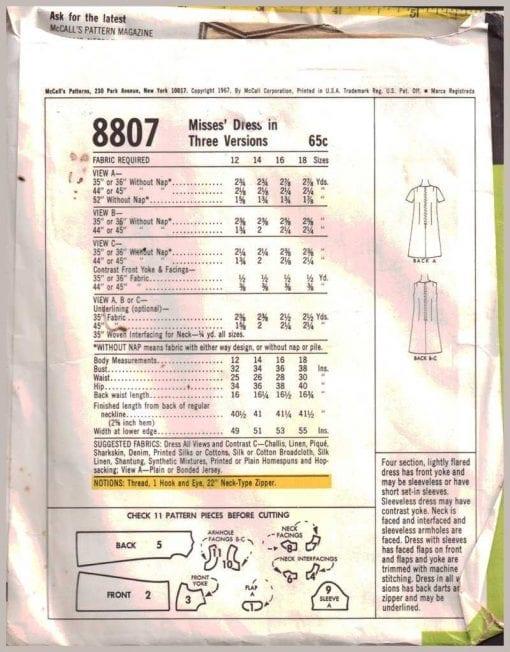 McCalls 8807 1
