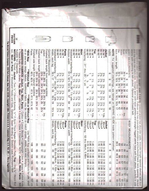 McCalls 8996 M 1
