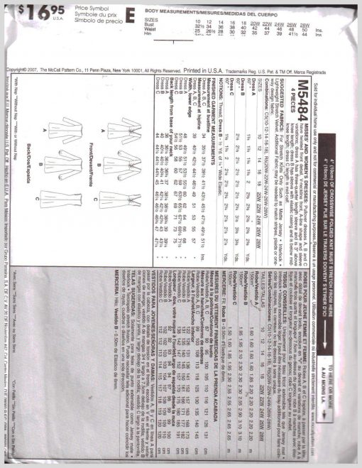McCalls M5484 M 1