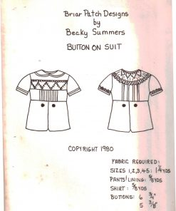 Briar Patch Designs Button on Suit
